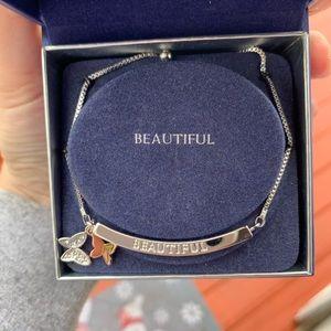 Swarovski Jewelry - Butterfly Charm Bracelet with Swarovski Crystals
